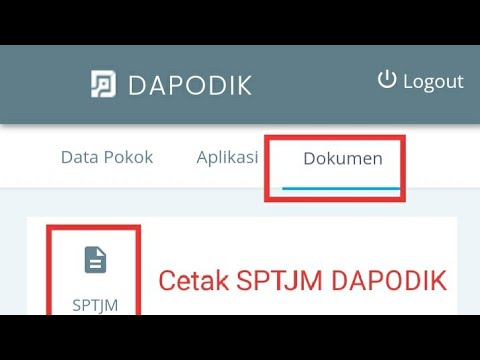 Cara Cetak SPTJM Dapodik 2021 Lewat sp.datadik.kemendikbud.go.id