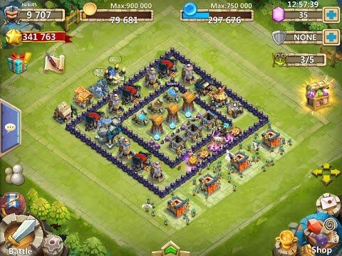 Castle Clash Double Square Base Setup|town Hall Lvl 12