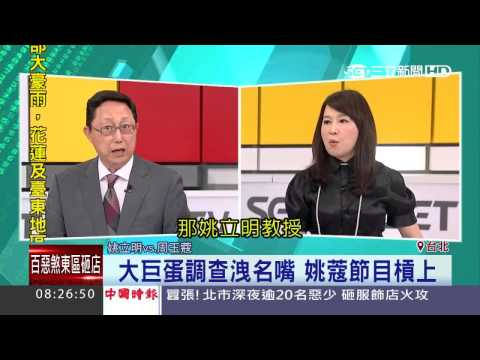 大巨蛋調查洩名嘴 姚蔻節目槓上│三立新聞台