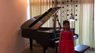 Annie Nantha played Two Parts Invention No7 in E minor by Bach