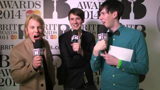 Dan & Phil with Tom Odell, Ricky Wilson, Chlöe Howl and Joe Swash | BRITs Nominations 2014