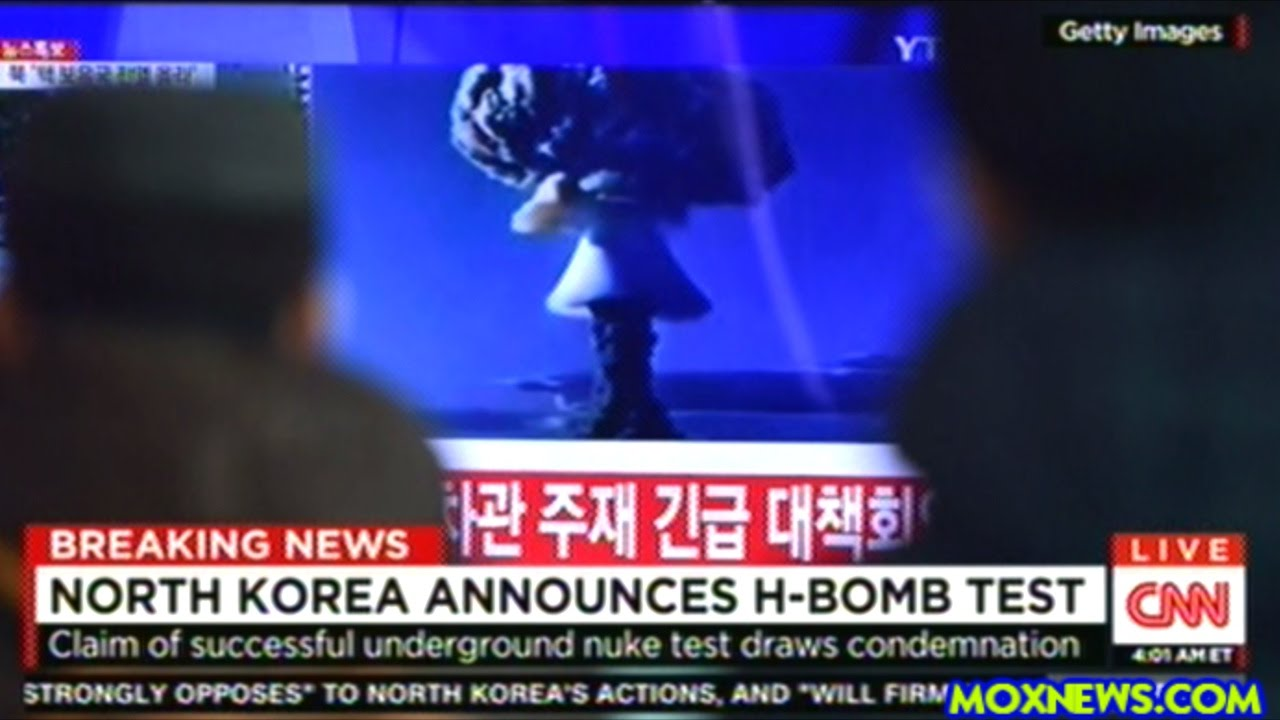 """First Images Of North Korea """"Hydrogen Bomb"""" Test - YouTube"""