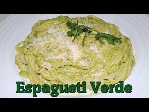Como Hacer Espaguetti Verde Facil Receta Green Spaguetti Cocina Blog