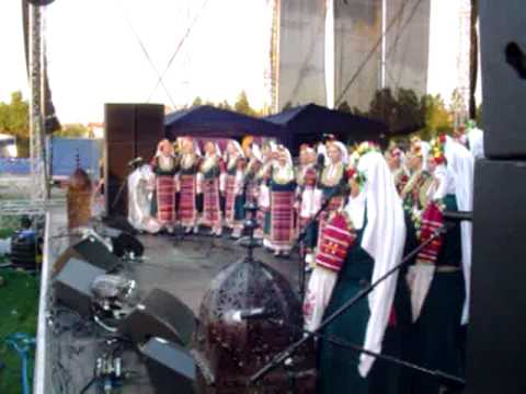 On stage with Bulgarian Choir in Kavarna