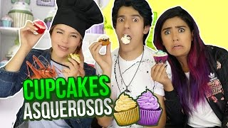 TRYING CUPCAKES WITH INSECTS | POLINESIO CHALLENGE LOS POLINESIOS