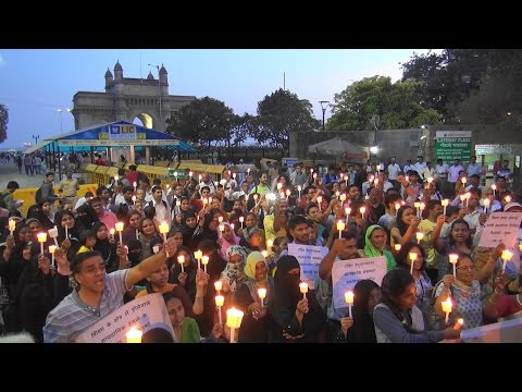Mumbai Candlelight March In Solidarity with JNU, Rohith Vemula
