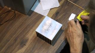 installing led cob on passive heatsink