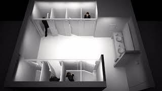 큐시스 화장실칸막이(조명이달린 화장실칸막이,전기절약)
