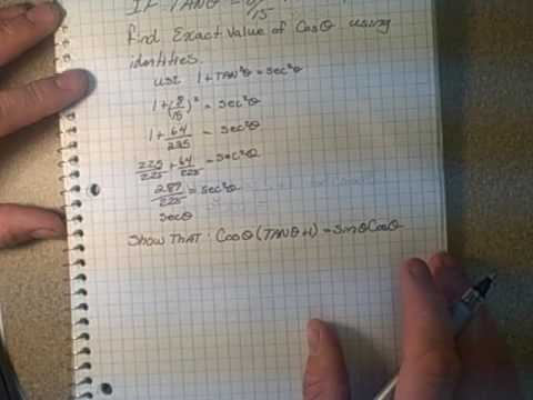 how to work out exact trig values