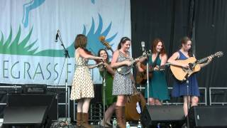"Della Mae, ""Head Over Heels In Love With You"" Grey Fox Bluegrass Festival 2011"