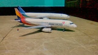 Asiana Airlines A320 Papercraft