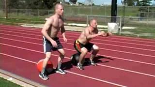 400m run/50 squat X 4 workout