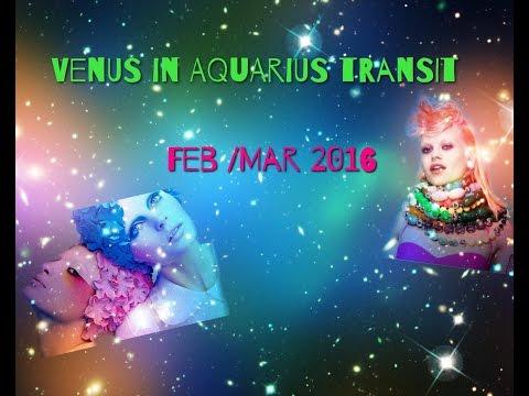 Venus in Aquarius Transit 2016