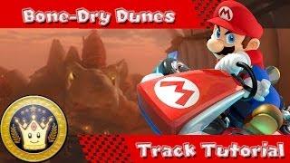 Mario Kart 8 WiiU - Bone Dry Dunes Track Tutorial, First Impressions, Shortcuts, & Pro-Tips!