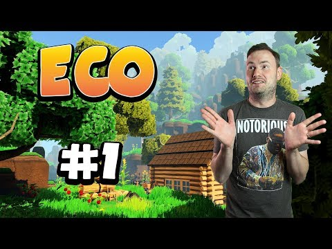 Sips Plays Eco (4/4/2018) - #1 - Version of Minecraft I've Always Wanted