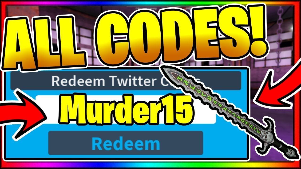 Youtube Roblox Murder 15 Codes All New Secret Working Codes October 2019 Roblox Murder 15 Spooky Youtube