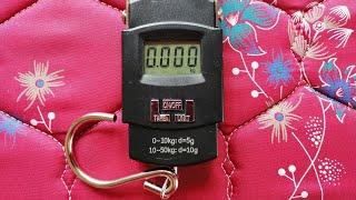 Portable Electronic Digital Weighing Hanging Scale  (50 Kg, Black)