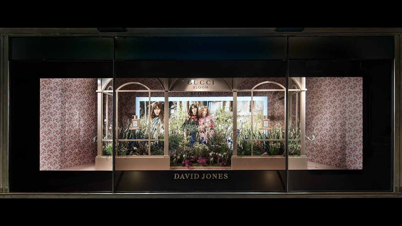 David Jones 2017 Spring Flower Show Gucci Window Timelapse Youtube