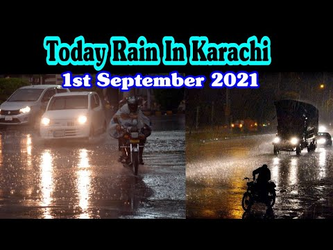 Toaday Rain In Karachi Pakistan    Shaziaz Family