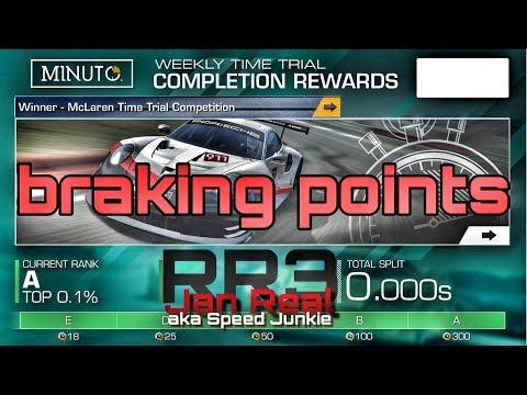 braking points WTT Lemans Ferrari F40LM 2:56.082 min