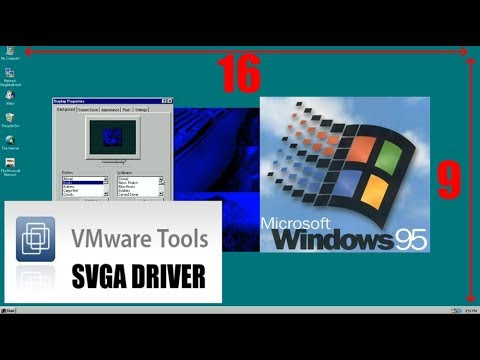 Manually installing the VMWare SVGA Driver on Windows 95