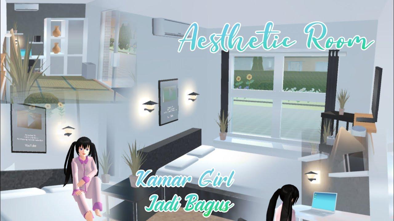 DEKORASI KAMAR GIRL JADI BAGUS 😋😍   REVIEW AESTHETIC ROOM MONOKROM SPEED BUILD IN SAKURA SCHOOL