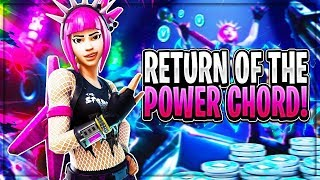 Trying out the NEW Power Chord Skin !- Solo Fortnite Victory Royale !