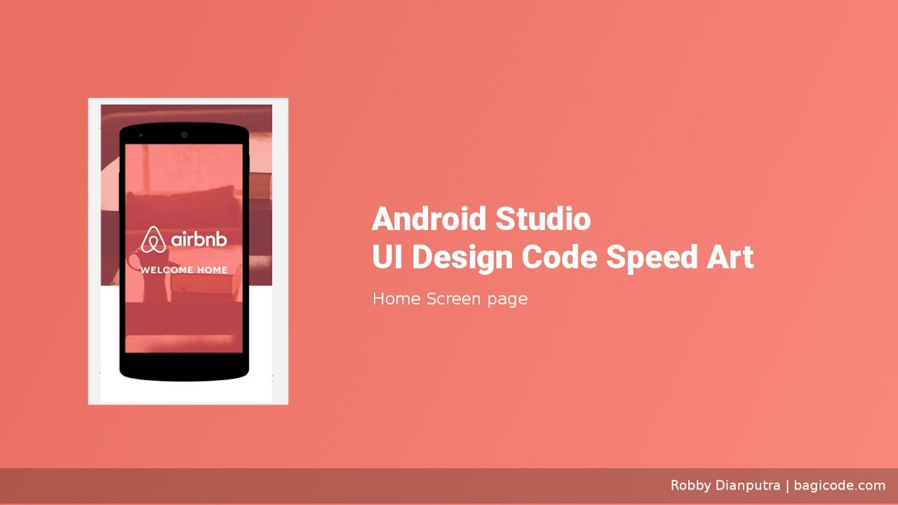 Home screen android studio ui design speed art xml youtube Home design android