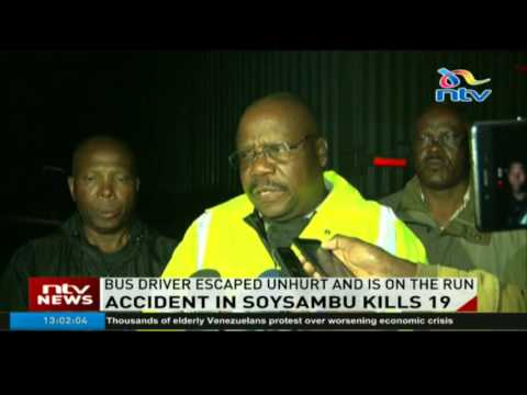 Accident in Soysambu kills 19, bus collided with a truck as it tried to overtake a lorry