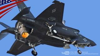【大迫力】F-35ステルス戦闘機の垂直着陸・在日米軍岩国基地
