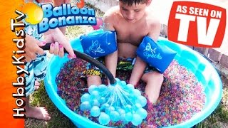Balloon Bonanza WATER FIGHT! As Seen on TV Freaky Fast + Orbeez HobbyKidsTV
