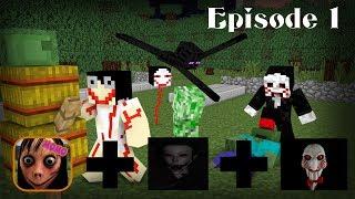 Monster School :MOMO JIGSAW THE EYE  (Episode 1) - Minecraft Animation