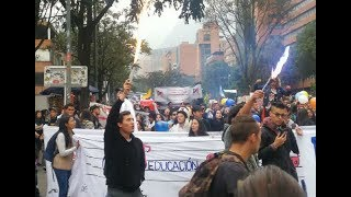 RED+   En paz transcurrieron marchas universitarias en Bogotá