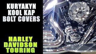 Kuryakyn Gloss Black Kool Kaps Hot Bolt Covers Toppers Harley M8 TOuring Softail