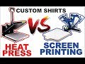 HTV VS Screen printing Which one is better? Heat transfer vinyl