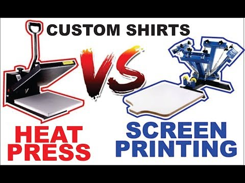 photo relating to Heat Transfer Printable Vinyl named HTV VS Display screen printing Which one particular is greater? Warmth shift vinyl
