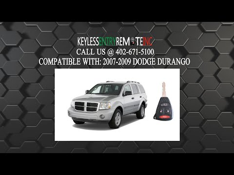 How To Replace A 2006 - 2009 Dodge Durango Key Fob Battery FCC ID OHT692714AA