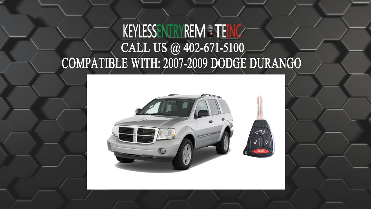 How To Replace Dodge Durango Key Fob Battery 2007 2008 2009