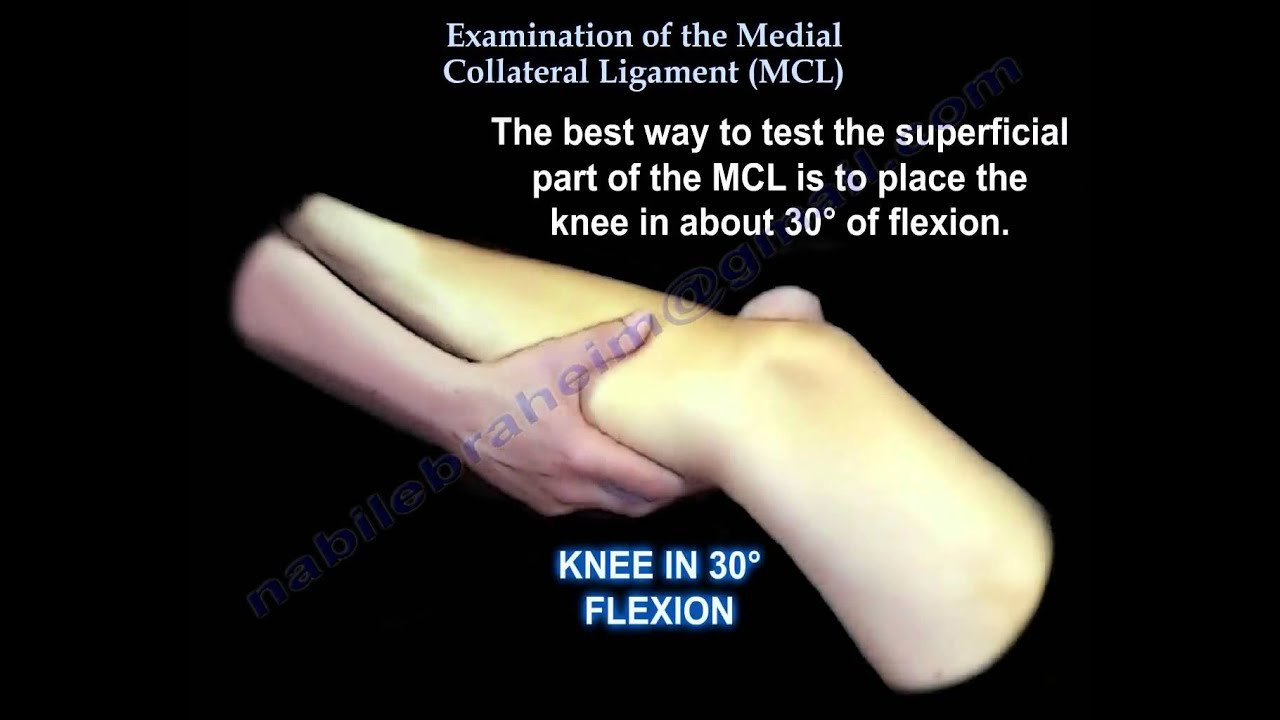 Examination Of The Medial Collateral Ligament Mcl