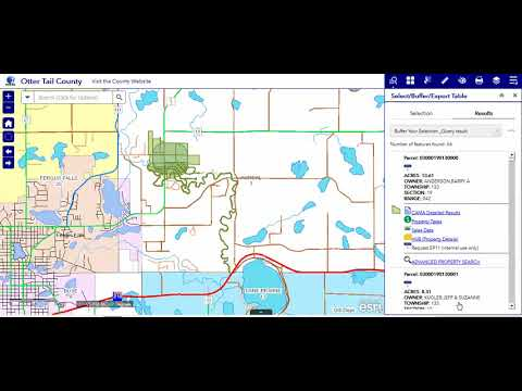 5f Create a Buffer - Otter Tail County, MN GIS Web App