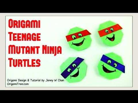 Origami Turtle - Teenage Mutant Ninja Turtles TNMT - Paper Crafts
