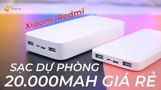 Sạc Dự Phòng 20.000mAh Rẻ Nhất Hỗ Trợ Sạc Nhanh Q.C 3.0 - Xiaomi Redmi 20.000mAh