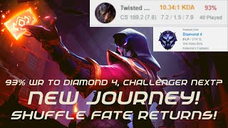shuffle fate alex returns 93 wr 10 kda diamond 4 challenger next twisted fate vs ryze 656