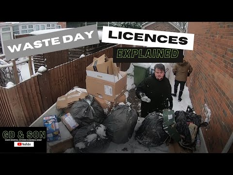 A FULL DAY OF WASTE. LICENCES EXPLAINED TO GET STARTED.