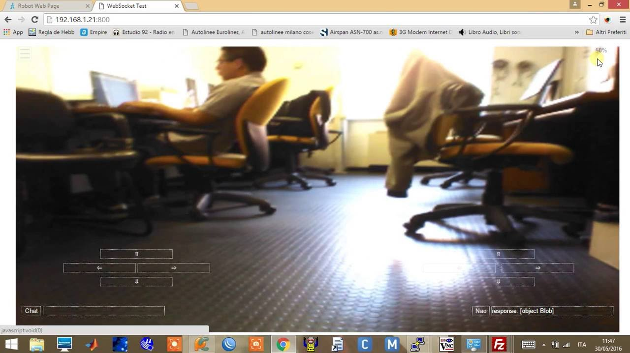 NAO robot control through web and remote camera viewing  part 2