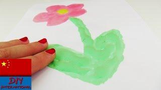 DIY 手工 制作 超级 简单 创意 3D 立体 绘画 颜料 涂料 填色 彩色 个性 画画 材料 展示