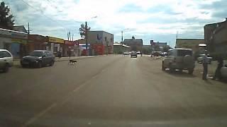 Дпс едут на запрещающий сигнал светофора. Г. Ужур Красноярский край
