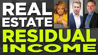 Passive income with real estate residual income - 4 Ways to make additional income in real estate.