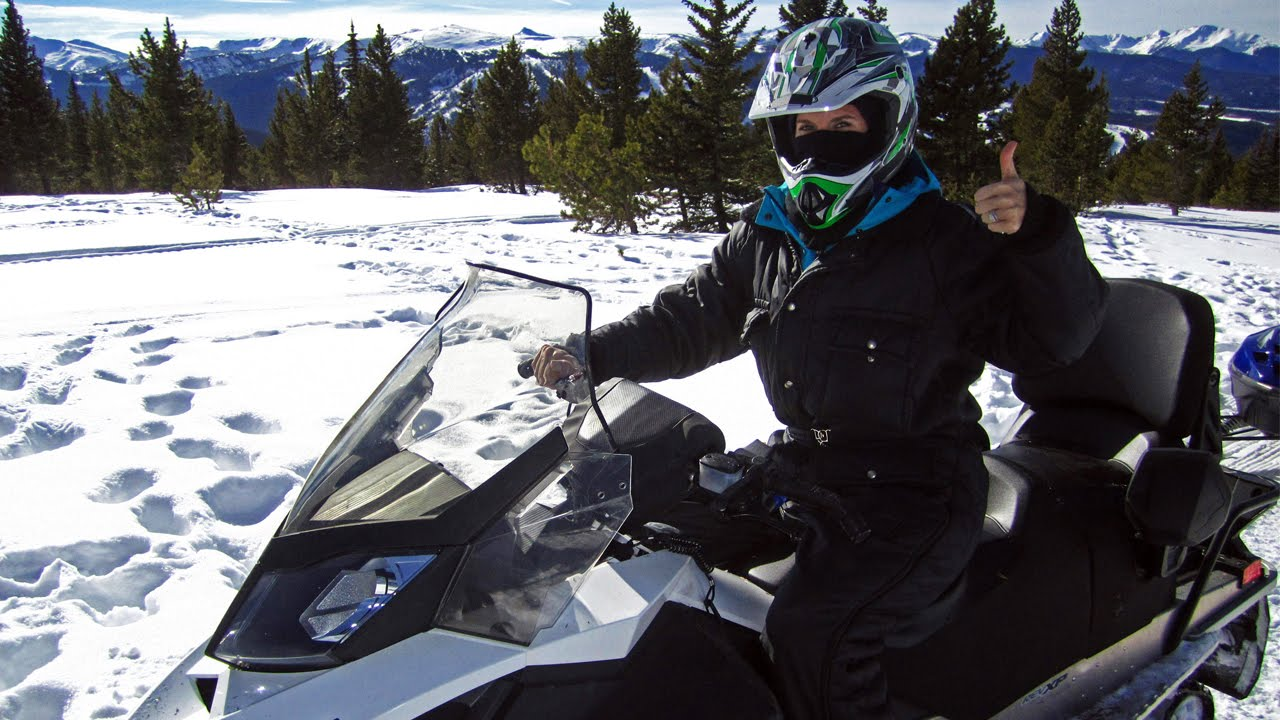 Snowmobiling The Continental Divide In