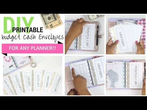 DIY CA$H💵💰 Envelopes for ANY PLANNER!! + Printable PDF | Mini Happy Planner | At Home With Quita